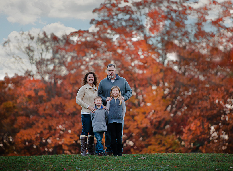 fall portrait of family